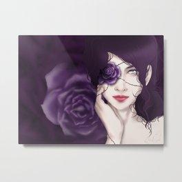 Violet Rosebound Metal Print