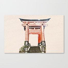 ArtWork Fushimi Inari Art Painting Kyoto Japan Canvas Print