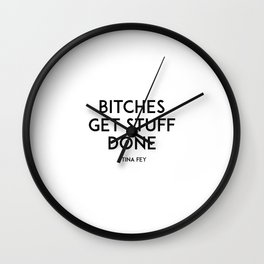 Bitches Get Stuff Done,Boss Lady,Like A Boss,Office Wall Art,Girls Room Decor,Gift For Her,Motivatio Wall Clock