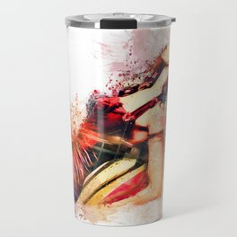 Lady in Red with Love Travel Mug