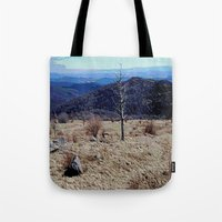 tennessee Tote Bags featuring Tennessee Landscape by Raffaella315
