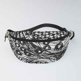 pulsating checkers Fanny Pack