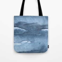 Gray Blue clouded wash drawing painting Tote Bag