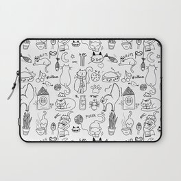 Black and white cats Laptop Sleeve