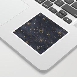 Seamless Pattern Night Sky Gold Stars Magical Mystical Pattern Sticker