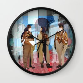 Flieger 2 Collage Wall Clock