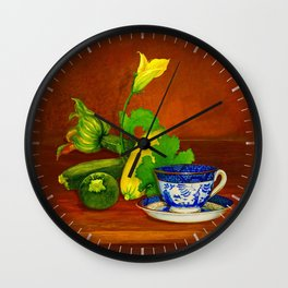 Teacup with Squash Wall Clock