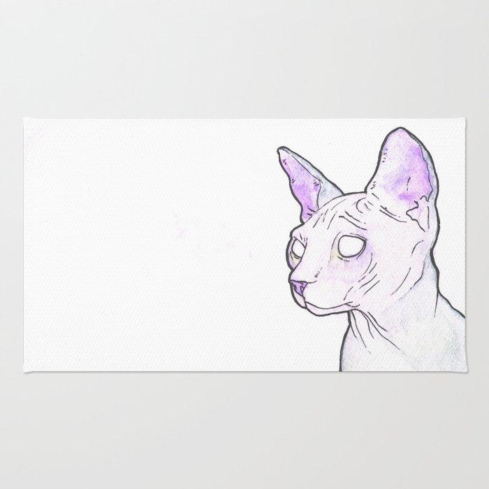 Hairless Cat (Purple) Rug