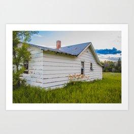 Farmhouse Lilies, North Dakota 1 Art Print