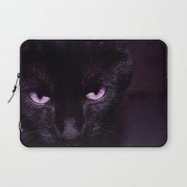 Black Cat in Amethyst - My Familiar Laptop Sleeve