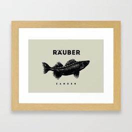 Zander Framed Art Print
