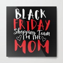 Black Friday Shopping Team Metal Print