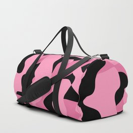 pink and black camouflage abstract Duffle Bag