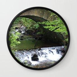 Little Bridge at the Falls Wall Clock
