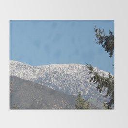 Southern California Snow Tease Throw Blanket