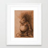 groot Framed Art Prints featuring Groot by Henrik Rosenborg
