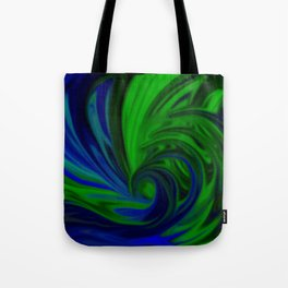 Blue and Green Wave Tote Bag
