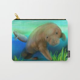Manatee Illustration Carry-All Pouch