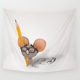 Drawing mouse Wall Tapestry