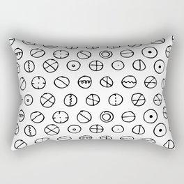 Circles Etc. Rectangular Pillow