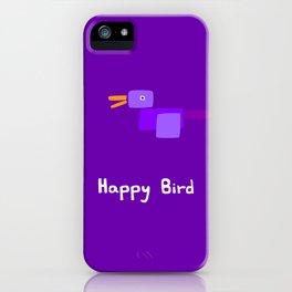 Happy Bird-Purple iPhone Case