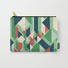 Abstract geometric background. Modern overlapping rectangles and triangles. Carry-All Pouch