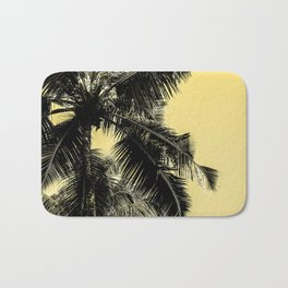 High palms poster in yellow Bath Mat
