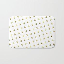 Avocado Print | White Bath Mat