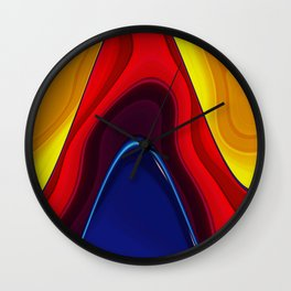 Color abstraction Wall Clock