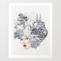 The (wo)man & the Machine Art Print