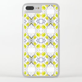 Pattern 43 - Maple Leaf and Branches pattern Clear iPhone Case