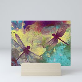 Painting Orchids and Dragonflies Mini Art Print