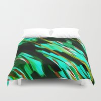 camo Duvet Covers featuring CAMO BRONX by Chrisb Marquez