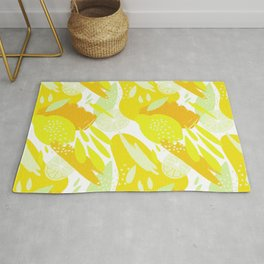 Abstract Lemons Fruit Pattern Rug