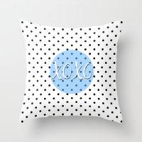xoxo Throw Pillows featuring XOXO by Pati Designs