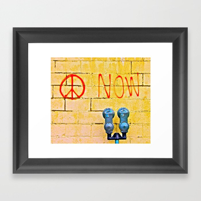 Peace Now! Framed Art Print