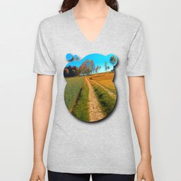 Hiking trail following the trees Unisex V-Neck