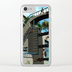 Optical Illusion - Tribute to Escher Clear iPhone Case