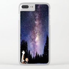 calvin and hobbes dreams Clear iPhone Case