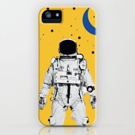 Astronaut Portrait on a Yellow Background iPhone Case