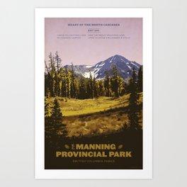 E. C. Manning Provincial Park Art Print