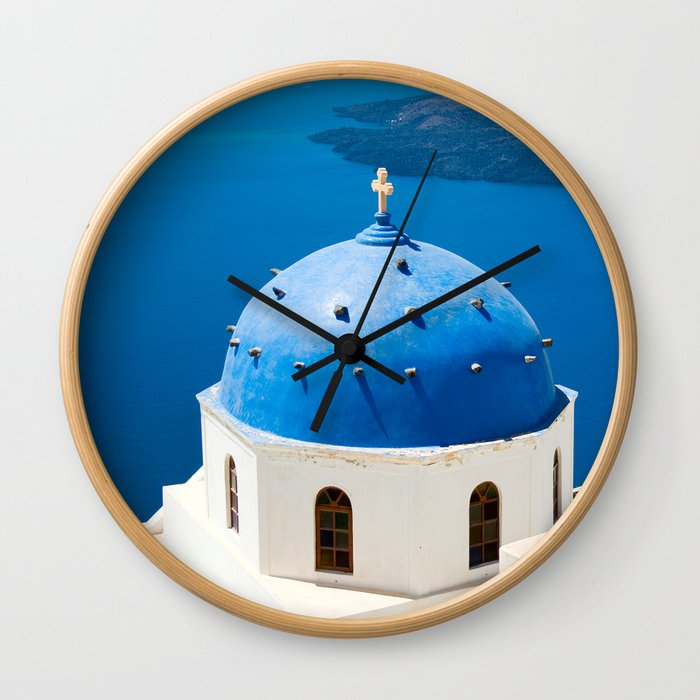 Beautiful Greece Wall Clock