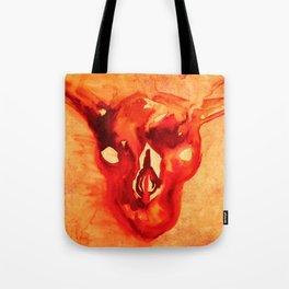 Bloody goat skull Tote Bag