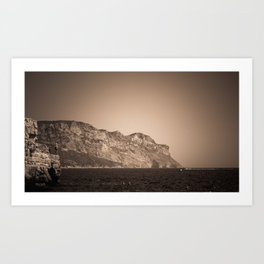 Cap Canaille near Cassis in a summer day Art Print