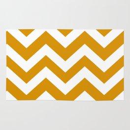 Harvest gold - orange color - Zigzag Chevron Pattern Rug