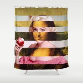 "Leonardo Da Vinci's ""Mona Lisa"" & M.M. Shower Curtain"