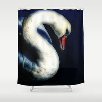 grace Shower Curtains featuring Grace by Spoken in Red