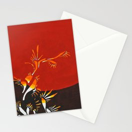 Halo, red abstract fire, NYC artist Stationery Cards