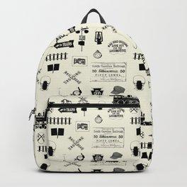 Railroad Symbols // Beige Backpack