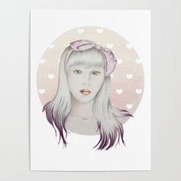 Girl Pink Poster